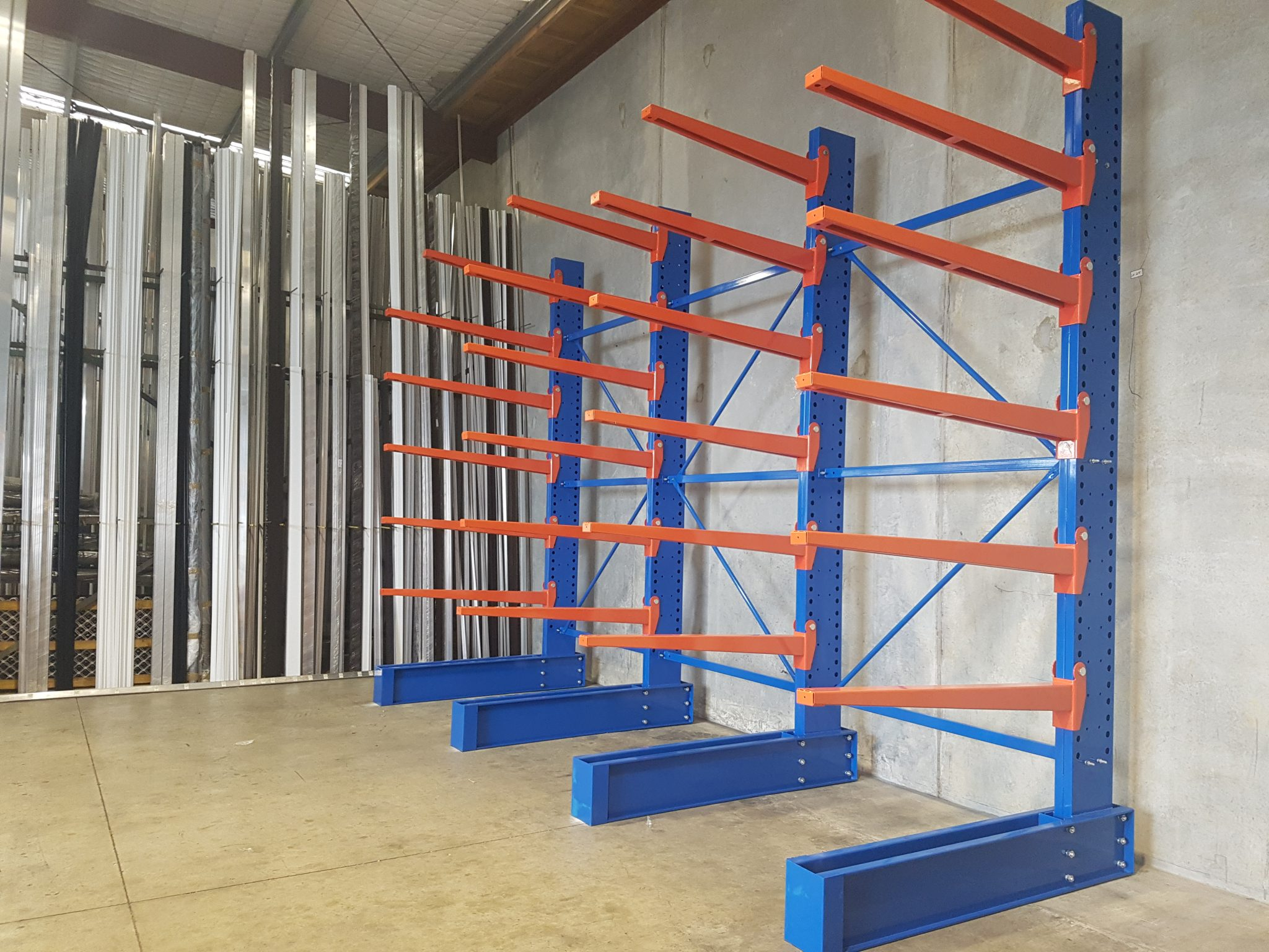 rac rack shelf with racks warehouse products arms product storage inclined cantilever and