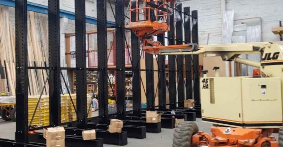 EH Ball iTM - STACK-iT Storage solutions installing Cantilever Racks