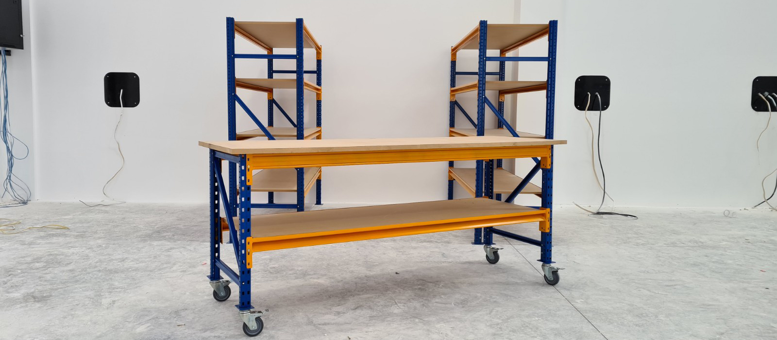 Bridons PictonWorkbench and Stackit Series Shelving