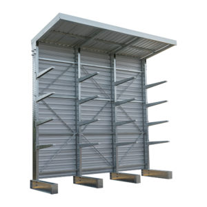 Heavy-Duty-Cantilver-Rack-with-Roof-Structure-Single-Sided-4-Post