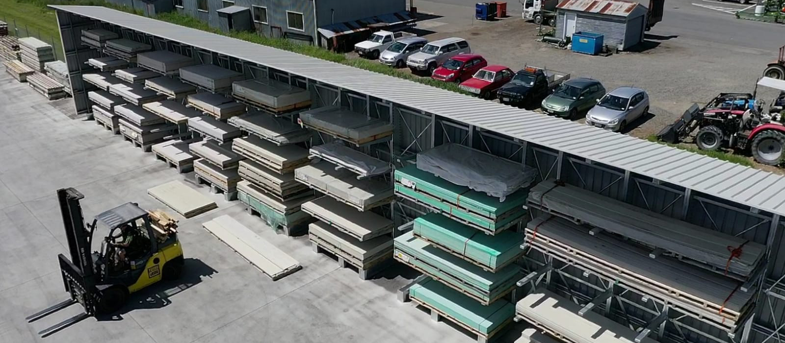 TUMU iTM Trade Store FItout, Cantilever Racking, Timber Storage, Yard Racking, iRS, Integrated Rack Structure, Roof Structure, Dry Storage