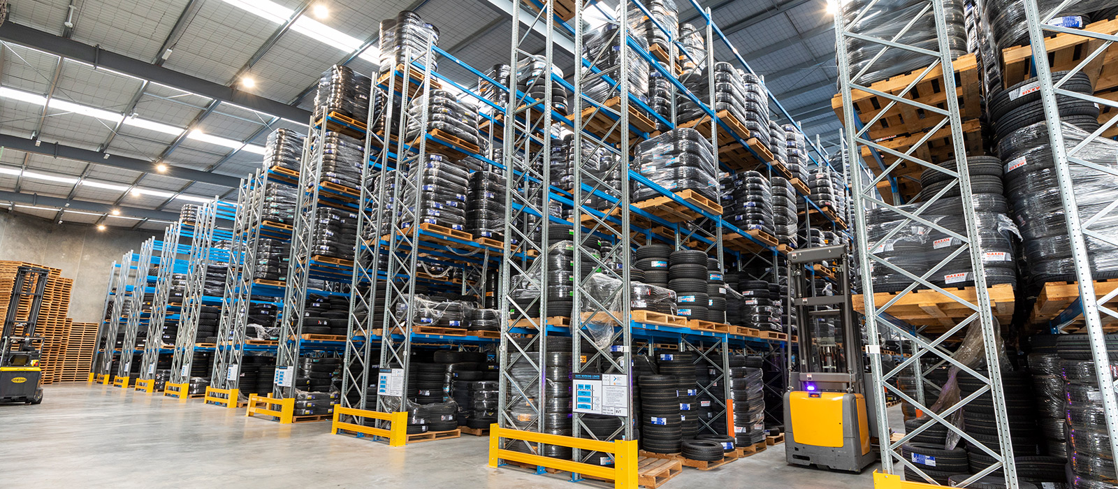 Tyremax Christchurch Warehouse Fitout, Pallet Racking, 12m High Pallet Racking, Tyre Storage