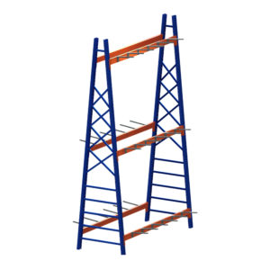 Vertical Moulding Extrusion Rack Double Sided Single Bay